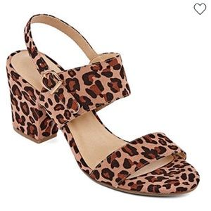 Chinese laundry leopard sling-back heels